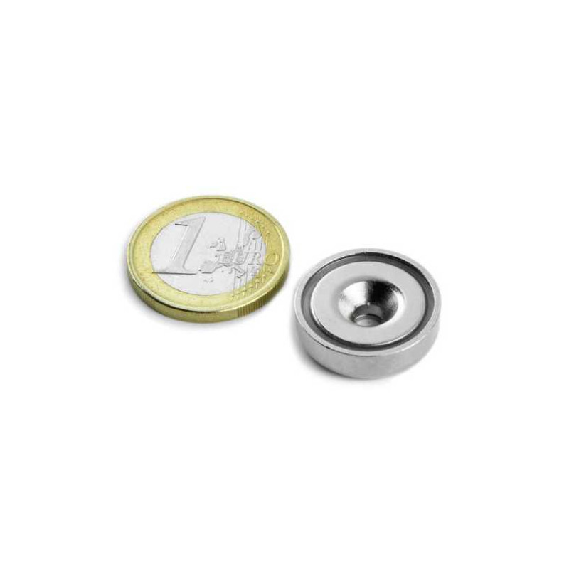 1 pc 20 mm Round Countersunk Neodym Magnet