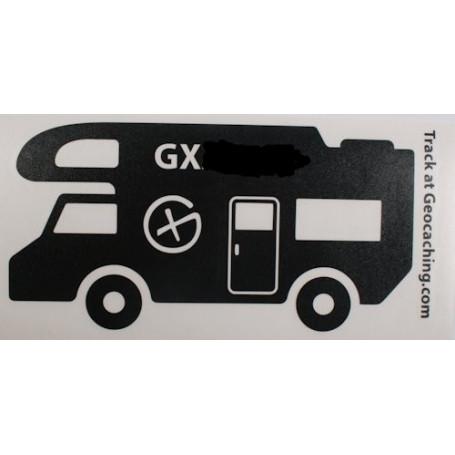 Trackable Camper sticker