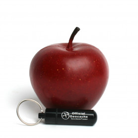 Geocaching Apfel Versteck - dunkelrot