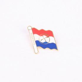 Pin vlag Nederland - goud