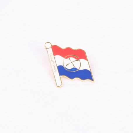 Pin flag Netherlands - gold