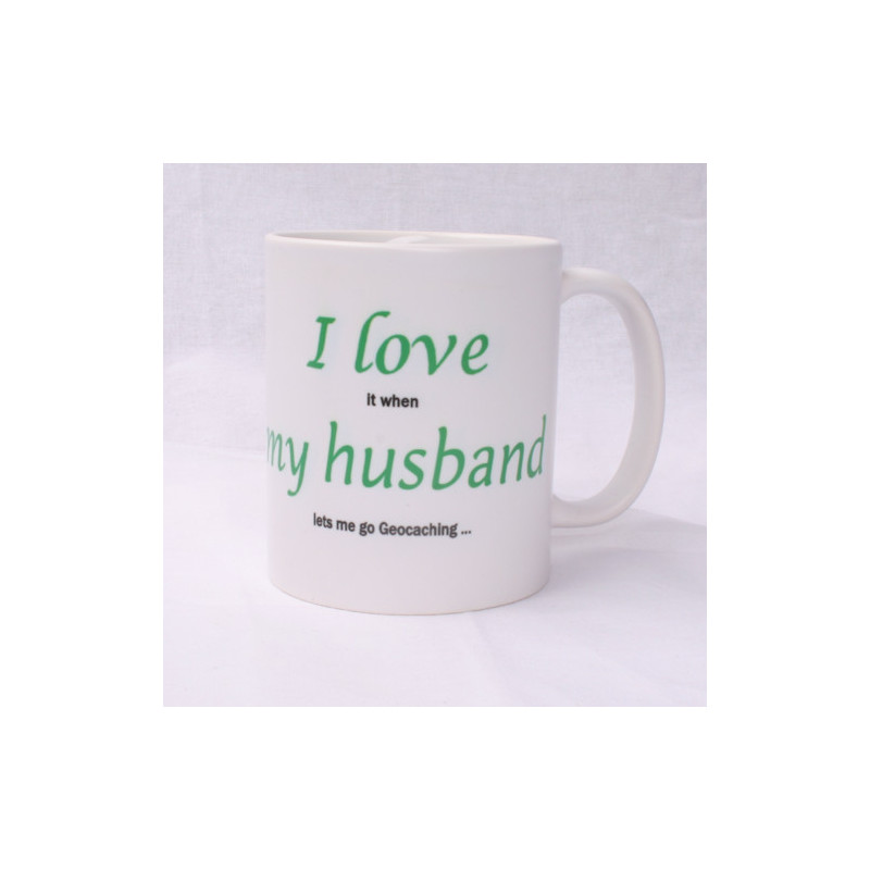 Koffie Thee Mok I Love My Husband Geocachingshop