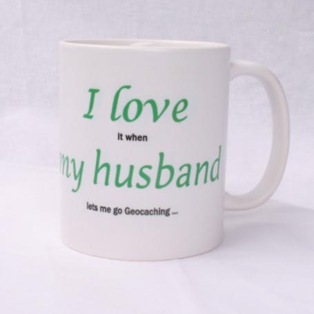 Coffee + tea Mug: I love my husband