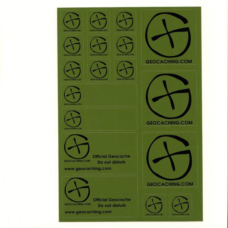 Stickervel A5 - Groen