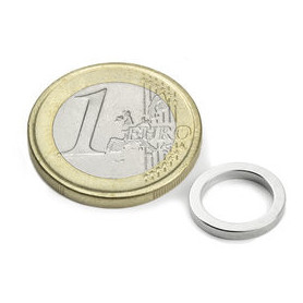 5 pieces 15 mm Round x 3 mm with 10 mm opening Neodym Magnets