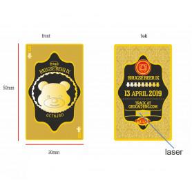 Brugse Beer 9 Geocoin + Tag - Polished Gold