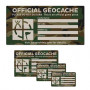 Groundspeak Cache label camo, small 4.5 x 8 cm