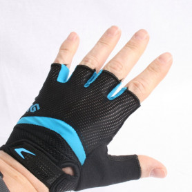 Bike gloves CoolGloves blue half-covered