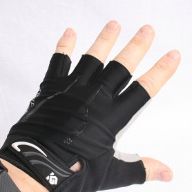 Bike gloves Coolchange black half-covered