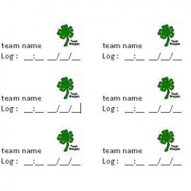 Log Team Stickers, 38 x 21 mm, 65 stuks