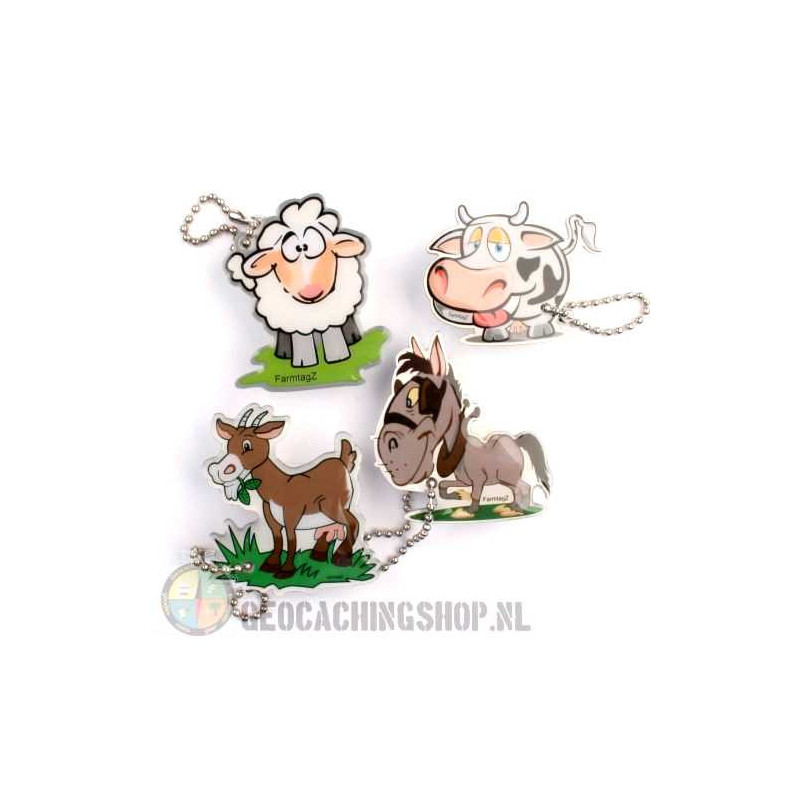 Farmtagz - set of 4 - In de meadow