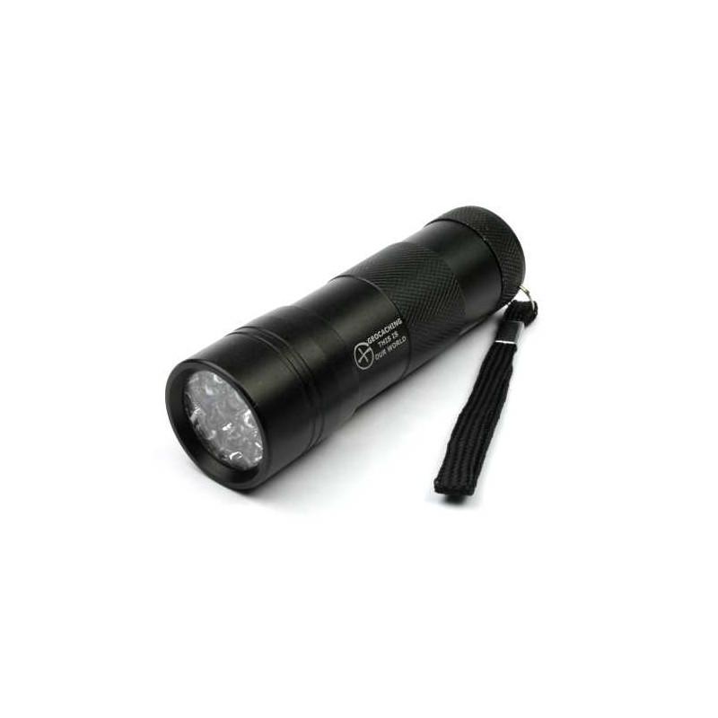 UV lamp 12 LED zwart
