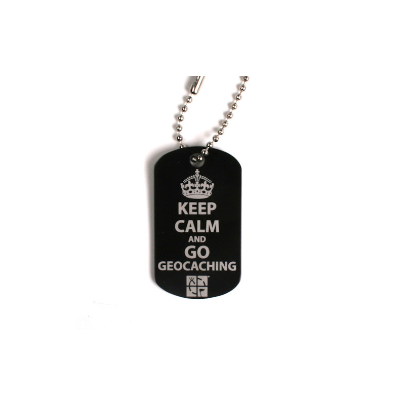 Keep Calm and go Geocaching Travel Tag