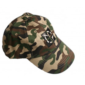 Hat, camo with geocaching logo