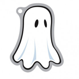 Halloween - BOO-mer the Ghost travel tag