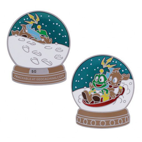Signal the Frog® Snow Globe Geocoin
