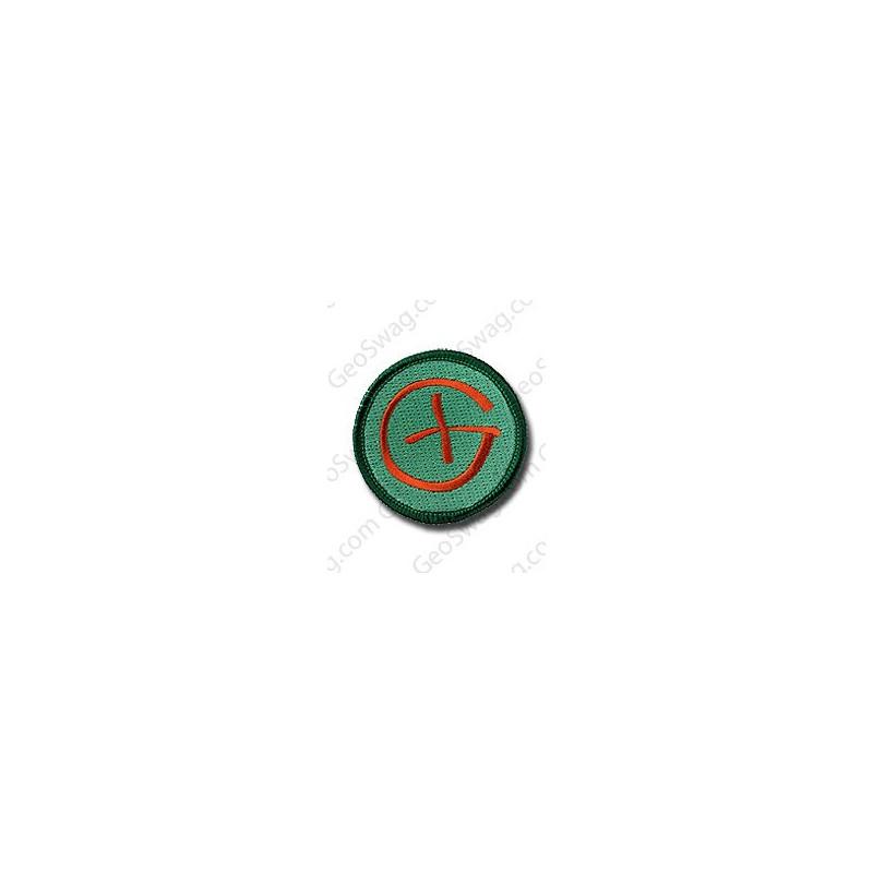 Badge Geocaching groen/bruin