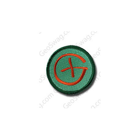 Patch Geocaching Green/Brown