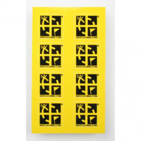 Mini sticker 8 pack yellow 2 x 2 cm