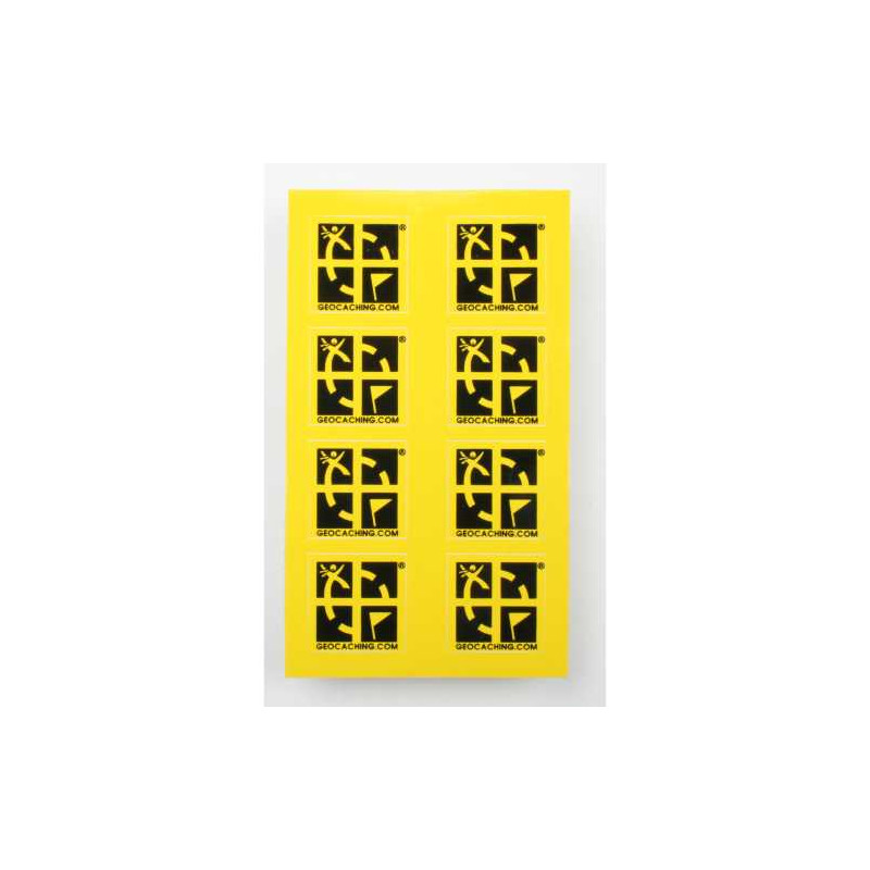 Mini sticker 8 pack yellow 2 x 2 cm