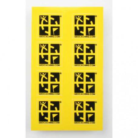 Mini sticker 8 pak geel 2 x 2 cm