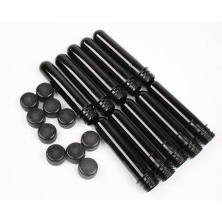 10 x PETling black, incl. cap (black)