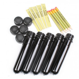 PETling black containerset of 5 with black cap