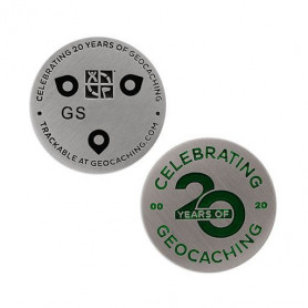 20 Years of Geocaching microcoin