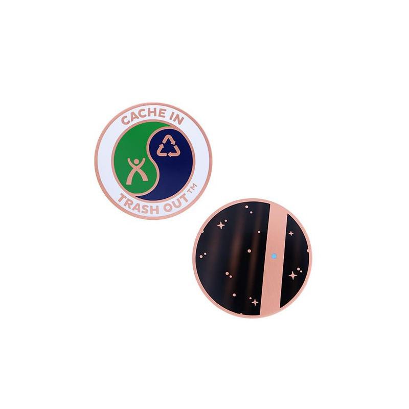 CITO geocoin - tiny blue dot