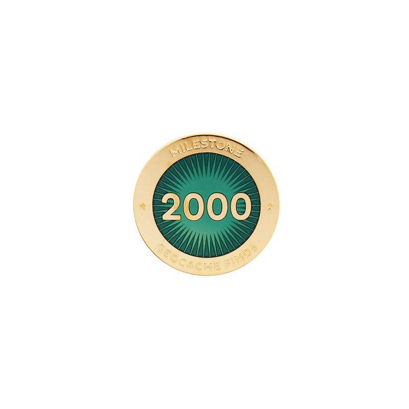 Milestone Pin - 2000 Finds