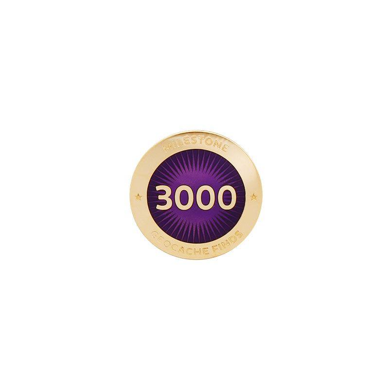 Milestone Pin - 3000 Finds