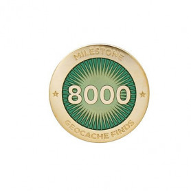 Milestone Pin - 8000 Finds