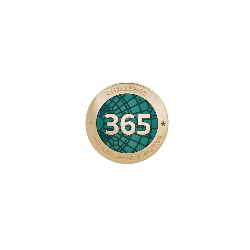 Challenge Pin - 365 Days of Geocaching