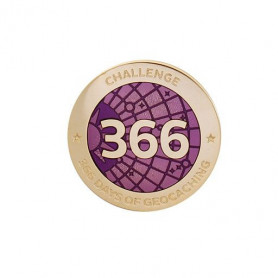 Challenge Pin - 366 Days of Geocaching
