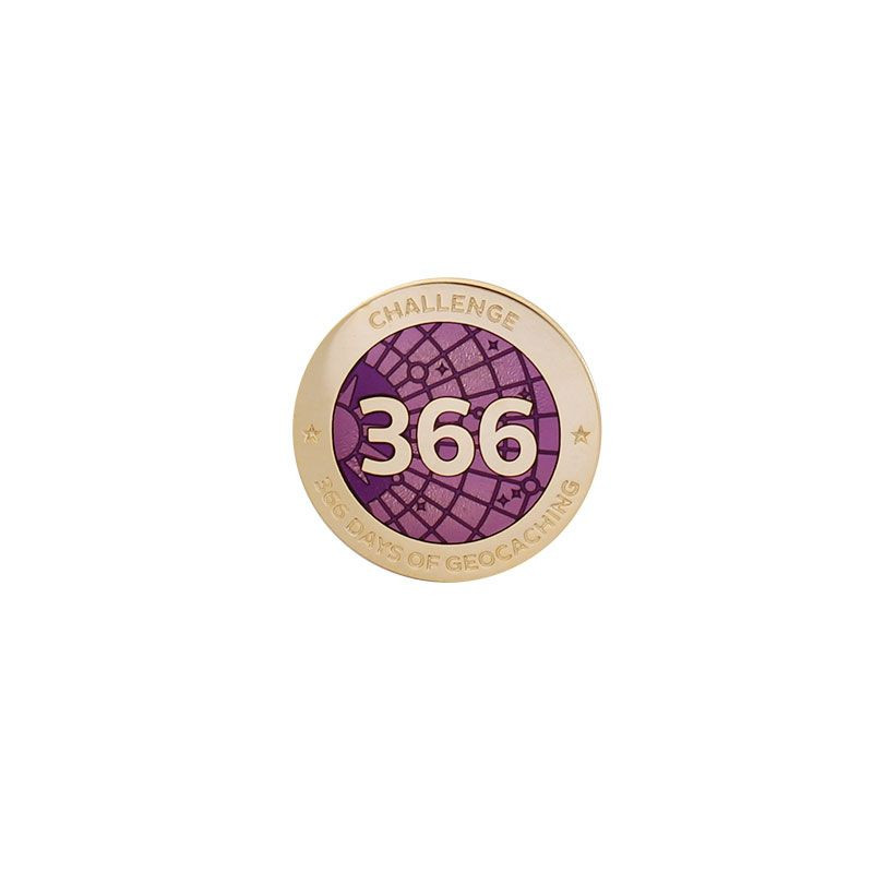 Challenge Pin - 366 Days of Geocaching