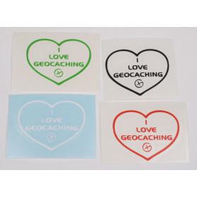 I Love Geocaching sticker 4 x 5 cm (decal)