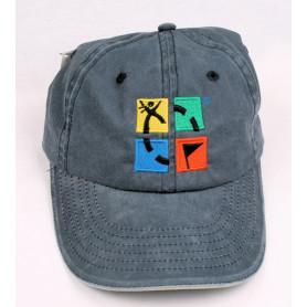 Kappe, groundspeak, denim mit logo