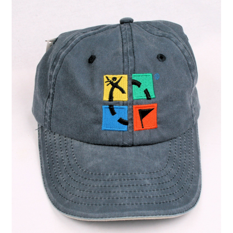 Hat, groundspeak, denim with logo