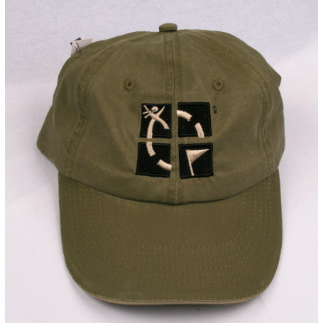 Hat, groundspeak, ammo green with logo