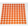 Reflector folie - 100 x Dots - orange