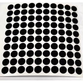 Reflektor Folie 100 Stück Kreise black
