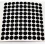 Reflector folie - 100 x rondje - zwart