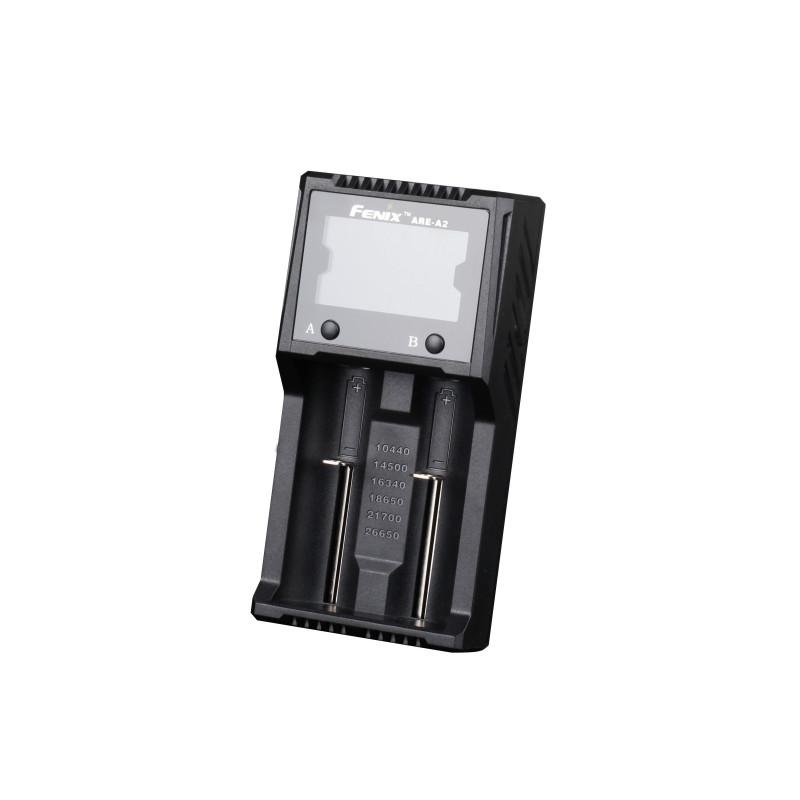 Fenix - charger for 2 x 18650, 26650, 16340, 14500, 10440, NiMH AA, AAA en C
