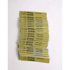20 x petling logbook (green) 17x90mm