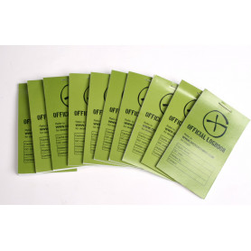 10 x Logbook Green Geocaching, 80x50mm, 50 pag.