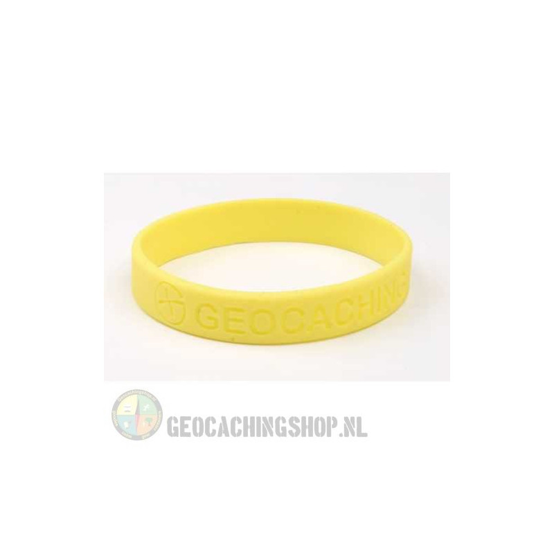 Wristband - Geocaching, this is our world - yellow