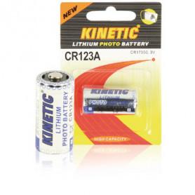Lithium Batterij CR123A 3 V 1-Blister Kinetic
