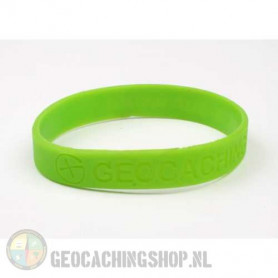 Wristband - Geocaching, this is our world - green