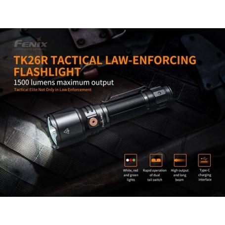Fenix TK26R oplaadbare zaklamp - 1500 lumen