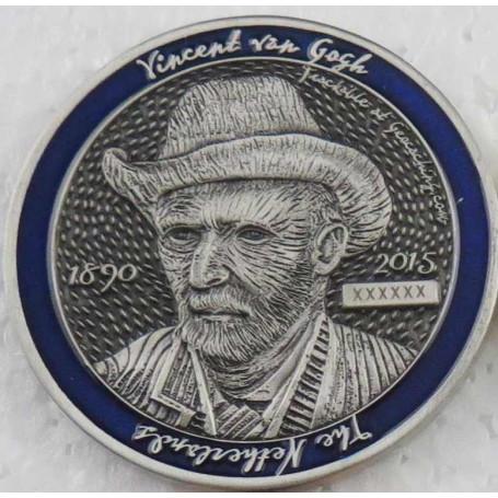Dutch Geocoin 2015 - Antiek zilver - RE - Vincent van Gogh